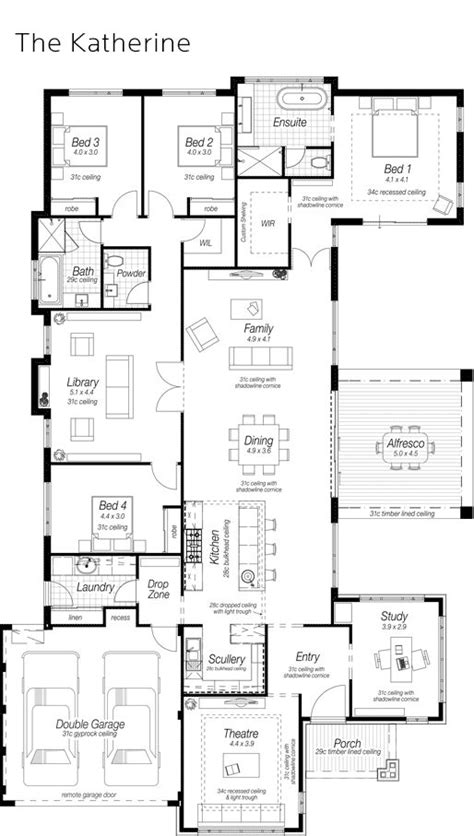 House Plans With Scullery Kitchen 724 Best Images About Homes 4 Bedrooms On House Design Home Design And House Plans