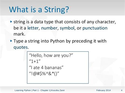 What Is String - learning python part 1 chapter 1