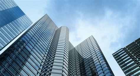 modern building office  blue sky background photo