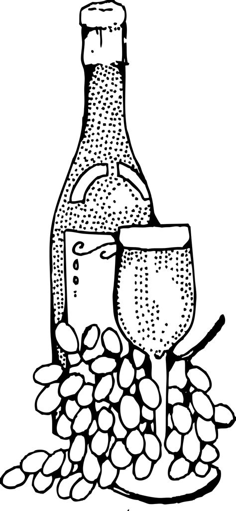 clipart wine bottle and glass