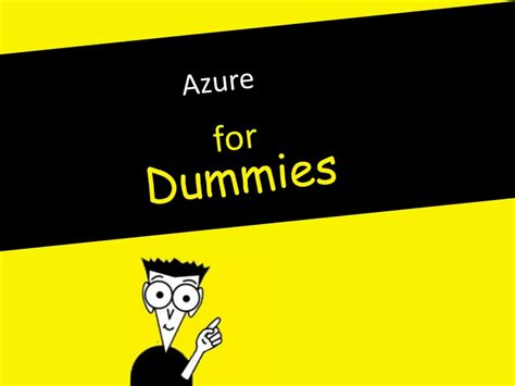 for dummies windows azure for dummies