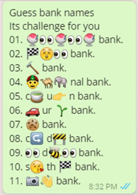 nal bank guess bank names its challenge for you whatsapp puzzle