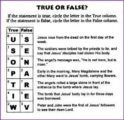 all of the following are true about color blindness except questions about jesus resurrection true false