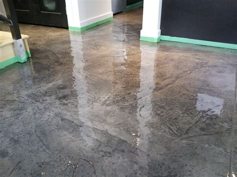 Clear Epoxy Over Stamped Concrete.   Yelp