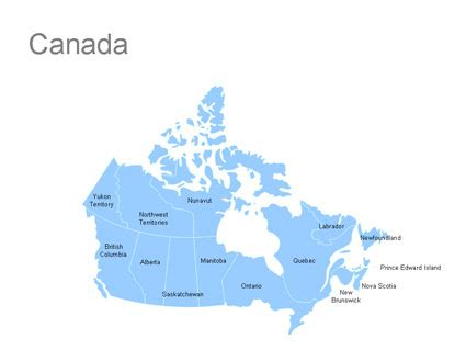 us and canada map for powerpoint editable canada powerpoint map for canada ppt
