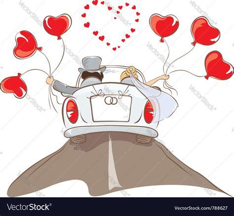 wedding car vector wedding car royalty free vector image vectorstock