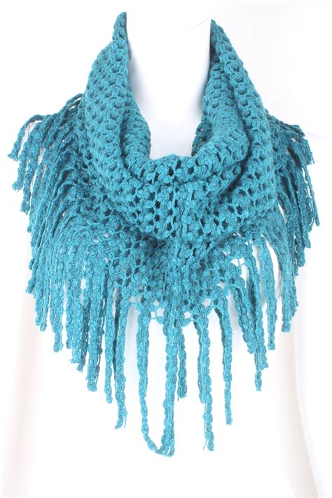 knit infinity fringe scarf scarves