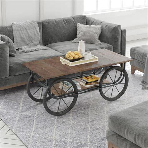oklahoma farmhouse mango wood distressed 41 kitchen yosemite home decor naturally distressed coffee table yfur