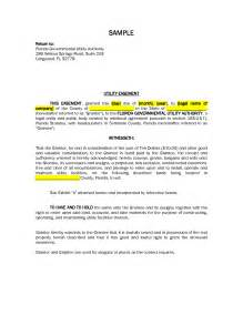 easement template road and utility easement letter of agreement sle pdf