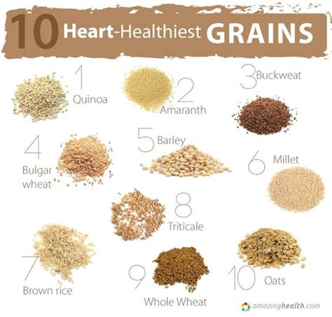 whole grains names healthiest grains lists of best food for your