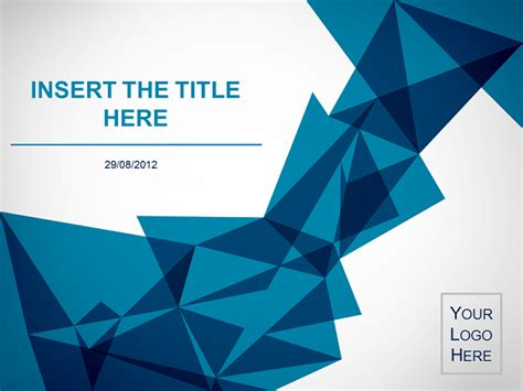 Origami Template - origami free template for powerpoint and impress