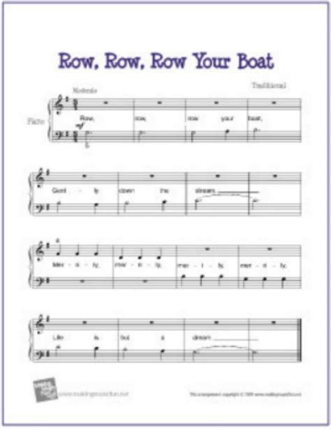 row your boat same tune as blog