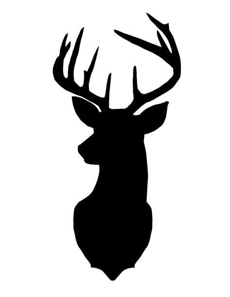 best hd deer head silhouette image