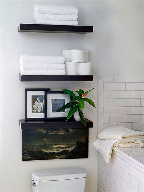 Shelves For Small Bathroom 20 Creative Bathroom Towel Storage Ideas