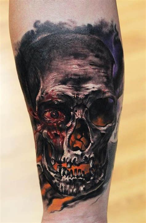 tattoo eye skull this skull tattoo by dmitry vision appears to have some of