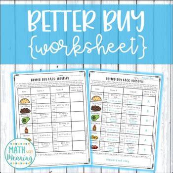 buy taco tuesday shopping worksheet activity unit