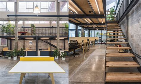 beautiful  working space takes    industrial