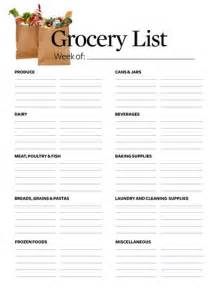 grocery list printable template 28 free printable grocery list templates baby