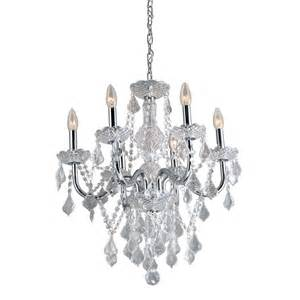 Candle Chandelier Outdoor Shop Portfolio 20 86 In 6 Light Polished Chrome Vintage