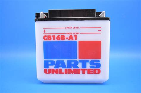 parts unlimited 12 volt heavy duty battery no acid cb16b