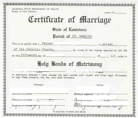 Marriage license louisiana st mary parish