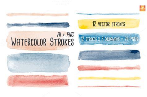 Cm 31 Cloud Stroke Brushes watercolor vector brush strokes illustrations on