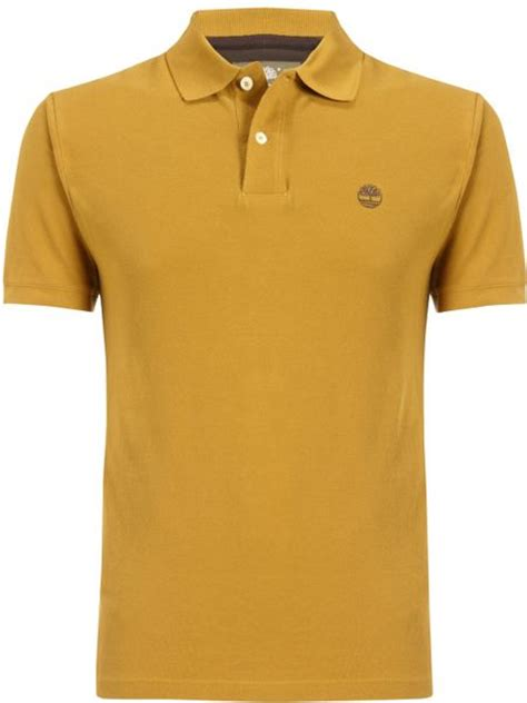 Polo Shirt Timberland timberland organic cotton sleeve polo shirt in yellow for wheat lyst