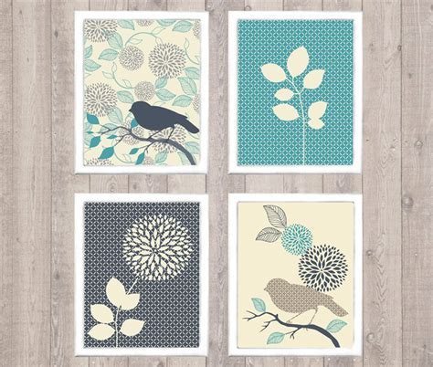 printable art gallery wall bird flower digital printable wall art print by