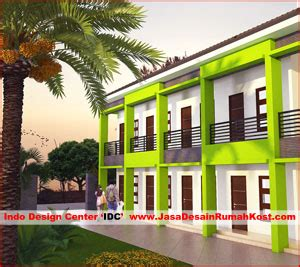 jasa desain rumah kost kost kontrakan mess