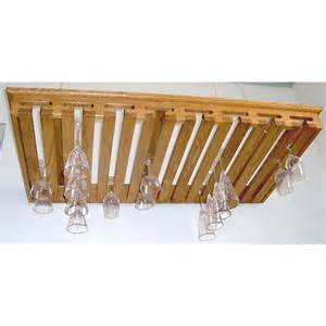 stemware racks 40 glass hanging solid oak stemware