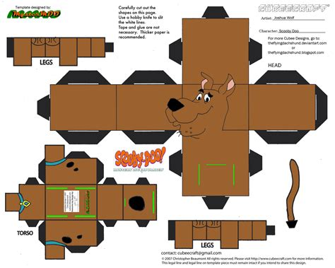 Scooby Doo Papercraft - sd1 scooby doo cubee by theflyingdachshund on deviantart