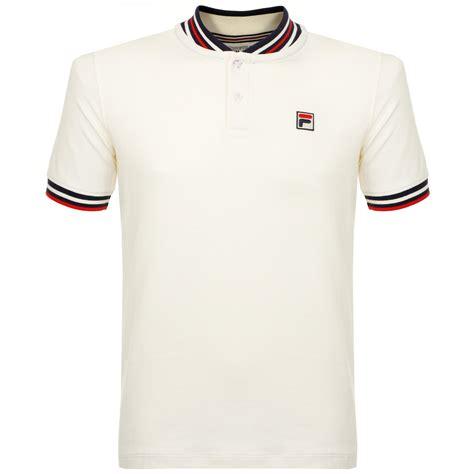 Polo Shirt Fila Keren Terlaris fila white line pique gardenia polo shirt