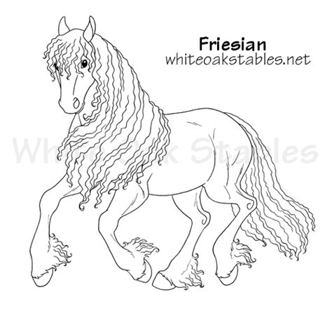coloring pages of friesian horses white oak stables realistic horse game
