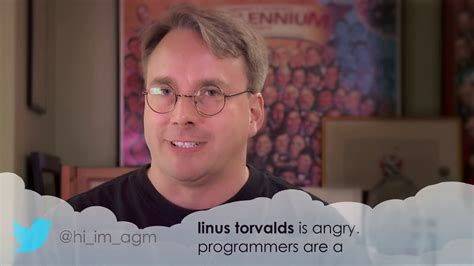 Kaos Dont See Monkey linus torvalds reading angry tweets about himself is the