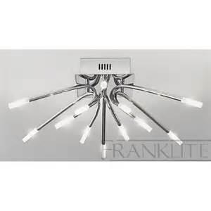 modern ceiling lights uk franklite fl2223 12 kendo modern flush ceiling light