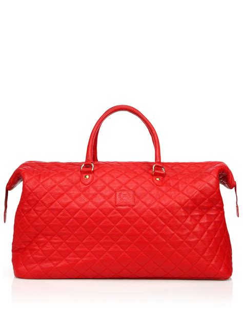 Quilted Weekender Bag by Toro Quilted Leather Weekender Bag In For Lyst