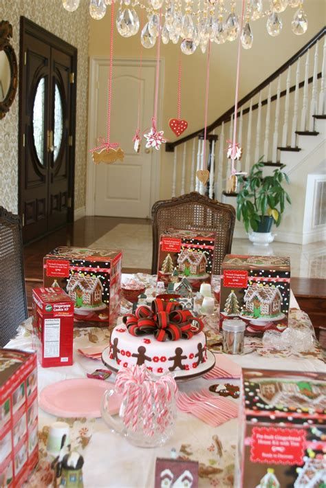 sweet parties  gingerbread party glorious treats