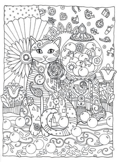 coloring books for adults publishers creative cats coloring book by marjorie sarnat dover