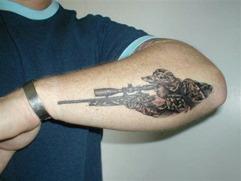 one shot one kill military tattoos pinterest