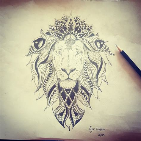 lion mandala tattoo mandalay design tattoos