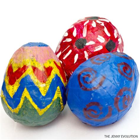 How To Make Easter Eggs Out Of Paper - diy easter paper mache eggs the evolution