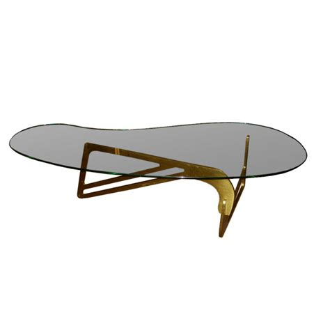 Designer Glass Coffee Table Mid Century Modern Bronze And Bimorphic Glass Top Coffee Table At 1stdibs