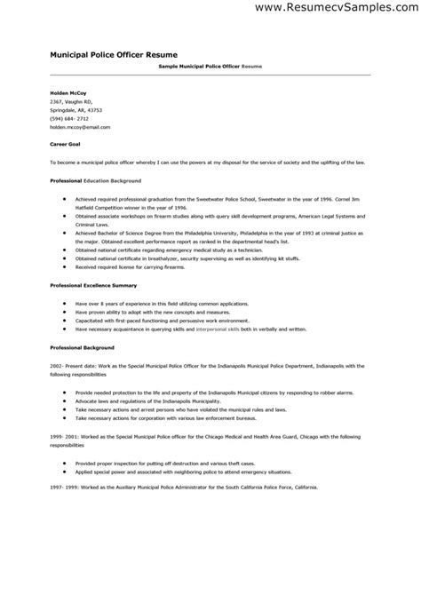 Officer Resume Exles by Officer Resume Templates Gfyork