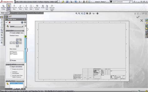 Solidworks 2013 Fundamentals How To Create Drawings And Drawing Templates Part 7 Tutorial Youtube Solidworks Drawing Template