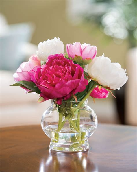 flower centerpiece capture permanent garden with peony silk flower centerpiece at petals
