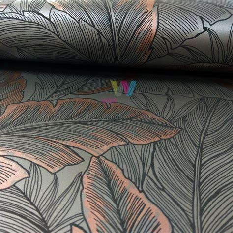 design your wallpaper uk wallquest pear tree leaf pattern wallpaper modern metallic