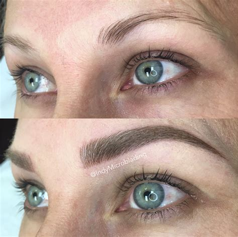 tattoo eyebrows on blondes indy microblading eyebrows on fleek microblading