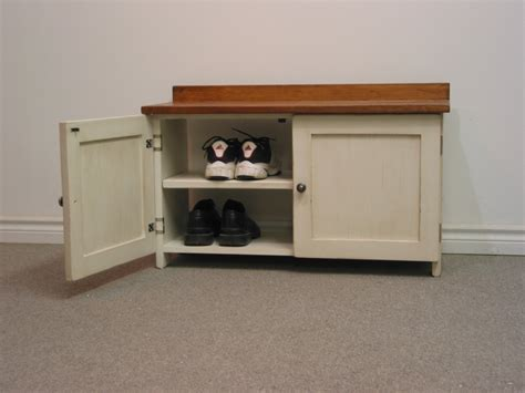 bench with cabinets white wooden shoe rack cabinet with door and bench