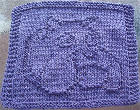 knit dishcloth patterns free digknitty designs bulldog knit dishcloth pattern