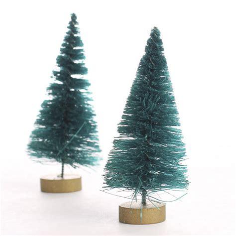 small green bottle brush trees christmas miniatures